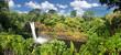 Panoramic view of the Rainbow Falls (Big Island, Hawaii)