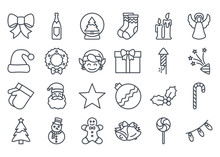 Christmas Icon Outlined