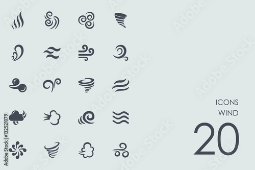 Set of wind icons Fototapeta