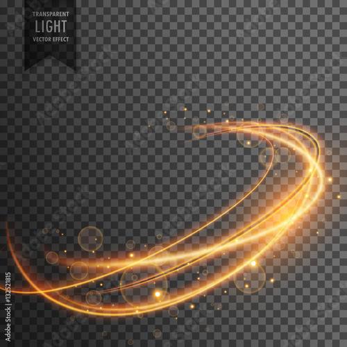 Fotografie, Obraz  magical golden light effect on transparent backgorund
