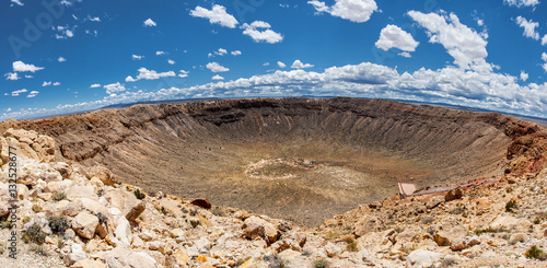 Tablou Canvas Meteor Crater panoramic view, in Winslow, Arizona, USA