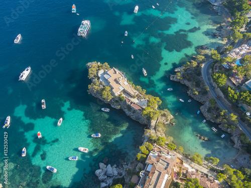 Blick auf die Bucht von Cala Fornells, Mallorca, Balearen, Spanien