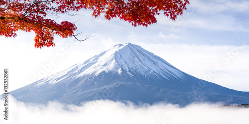 Valokuvatapetti Mount Fuji in Autumn