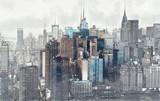 Sketch of the Manhattan skyline cityscape - 132533457
