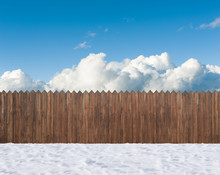 Snow Winter Backyard