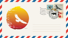 An Envelope With A Postage Sta...