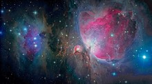 The Orion Nebula And Running Man Nebula