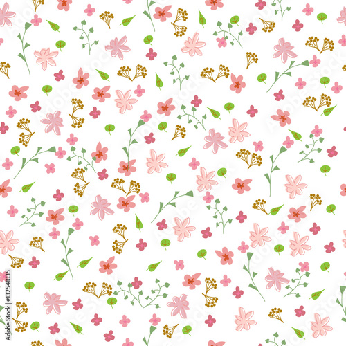 flower pattern. Abstract simple flowers