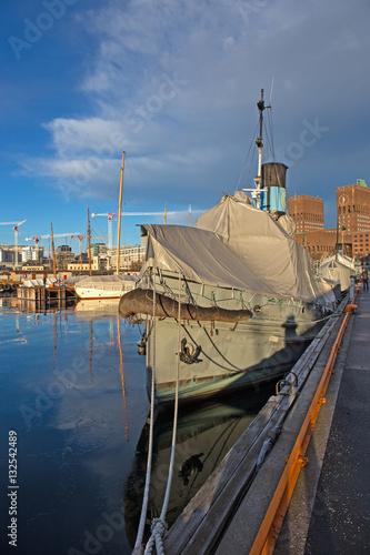 Museumsschiff im Hafen von Oslo Poster