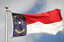 North Carolina State Flag Wavi...