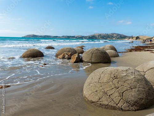 Stampa su Tela Kugelförmige Steine Moeraki Boulders Küste Neuseeland Otago