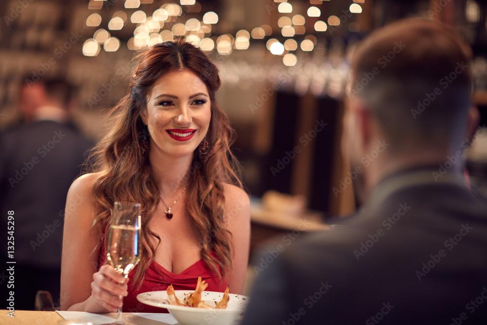Fototapety, obrazy: Romantic dinner for Valentine's day