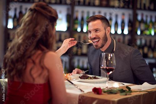 Tuinposter Restaurant Gala dinner in restaurant