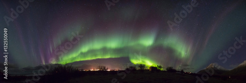 Photo Stands Northern lights Iceland Norther Lights Panorama