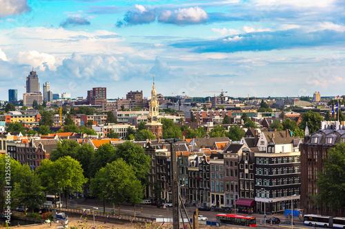 Photo  Panoramic view of Amsterdam