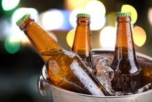 Cold Bottles Of Beer In Bucket...