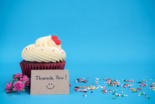 Thank You Note With Cupcake An...
