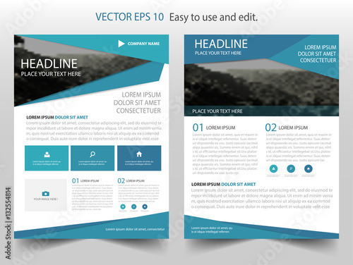 Blue Vector Business Proposal Leaflet Brochure Flyer Template Design