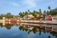 Colorful Indian Houses On The ...