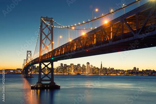 Keuken foto achterwand San Francisco Bay Bridge, San Francisco Skyline, Downtown San Francisco, California, USA