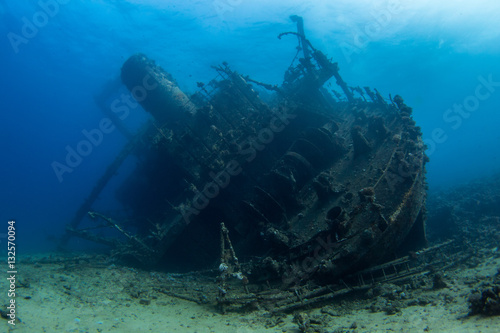 Wall Murals Shipwreck redsea diving