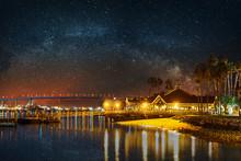 Milky Way Over Coronado Bridge