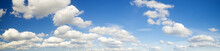 Puffy White Clouds In The Blue Sky,panorama