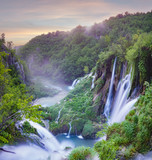 Fototapeta Do pokoju - waterfalls of Plitvice lakes national park