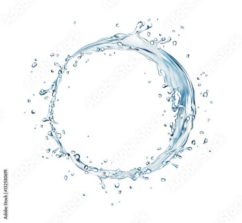 Obraz na płótnie vector water splash circle