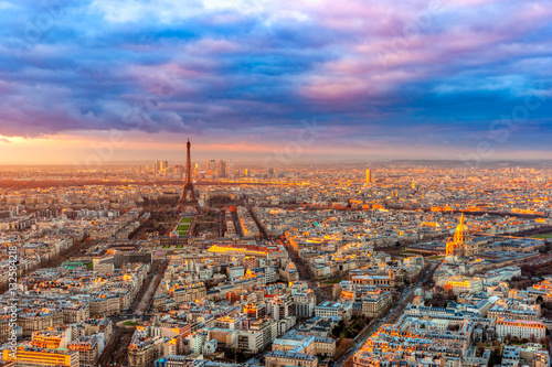 Photo Stands Paris Eiffel tower, Paris.