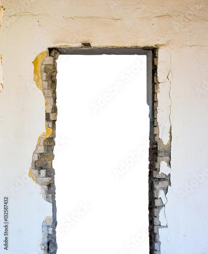 Obraz na płótnie otwór w ścianie