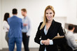 Businesswoman at workplace office