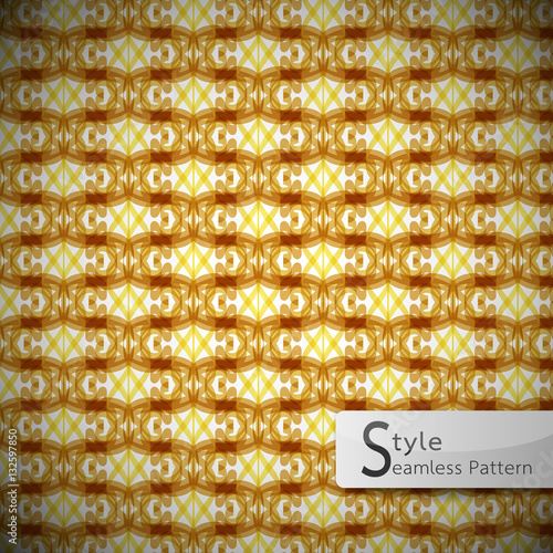 Fotografia, Obraz  abstract perforate mesh Golden vintage geometric seamless patter