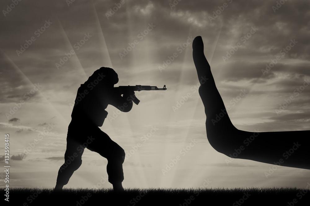 Fototapeta Fight against terrorism concept