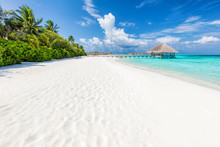 Wide Sandy Beach On A Tropical...