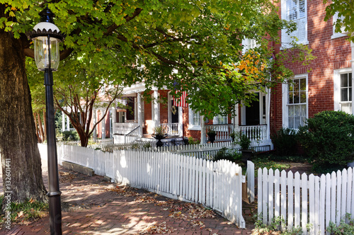 Fotografie, Obraz  Historic restored Richmond, Virginia neighborhood. Horizontal.