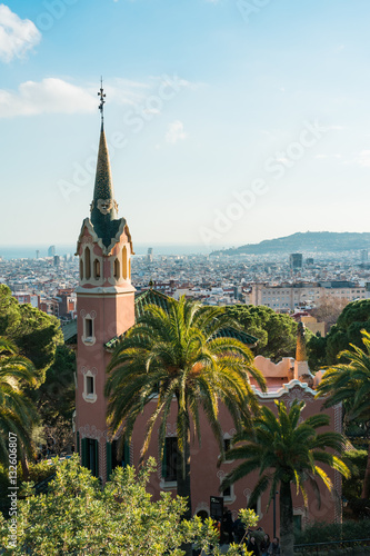 Casa Museo Gaudi.Casa Museu Gaudi In High Angle Format Buy This Stock Photo And