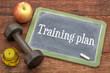 Training plan blackboard sign