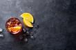 canvas print picture - Negroni cocktail