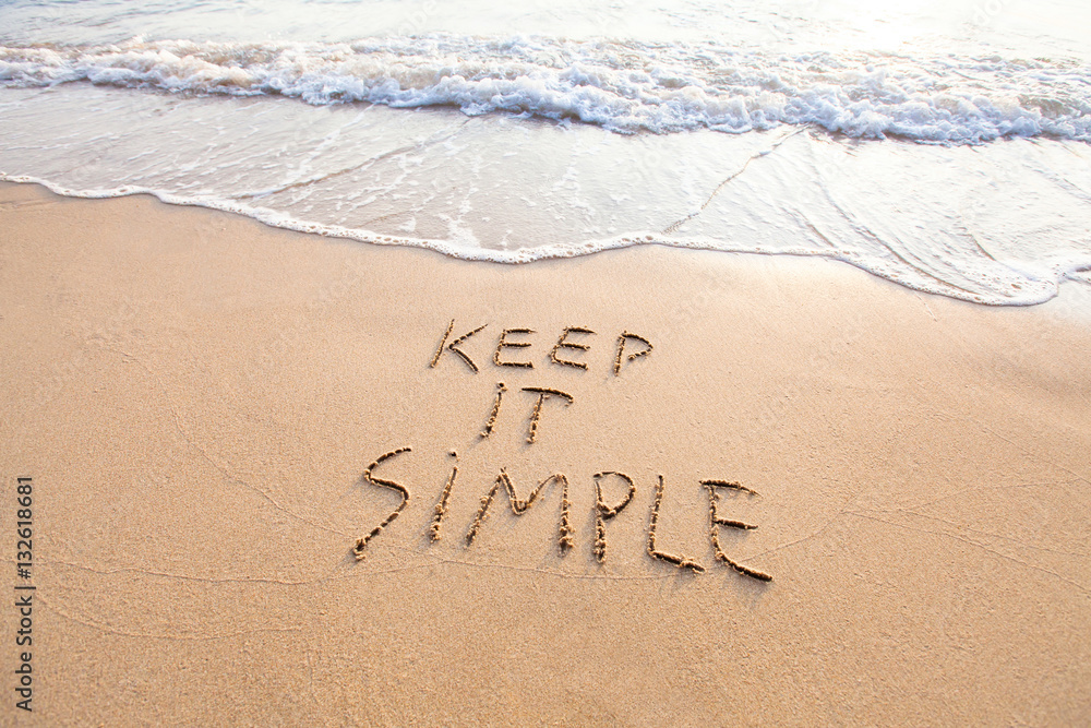 Fototapety, obrazy: keep it simple