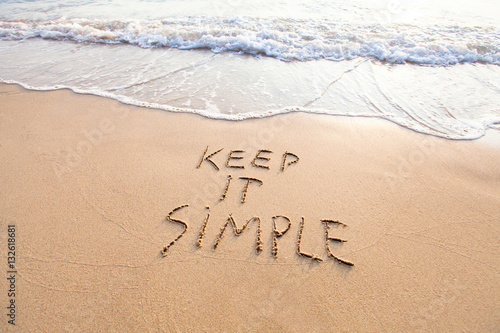 Obraz keep it simple - fototapety do salonu