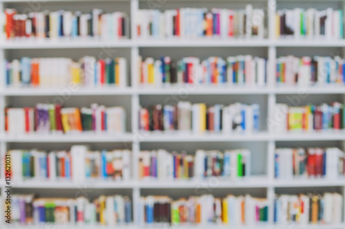 Photographie  blurred library or bookshop background