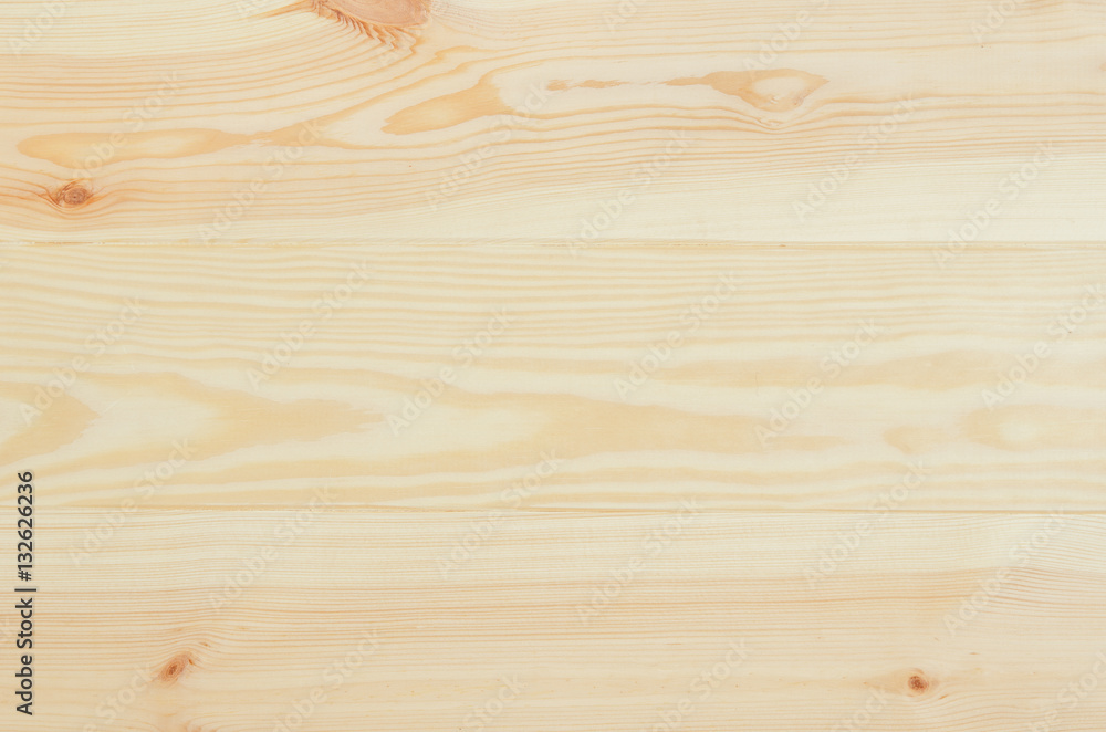 Fototapety, obrazy: Fresh knotted pine wood planks background top view. Visible texture with natural patterns.