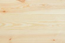 Fresh Knotted Pine Wood Planks Background Top View. Visible Texture With Natural Patterns.