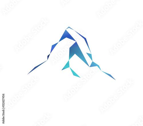 Photo  Snow mountains peak (Matterhorn) logo