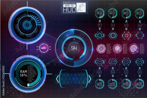 Fotografía  Futuristic user interface