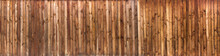 Wood Texture Plank Grain Background, Wooden Desk Table Or Floor Panorama