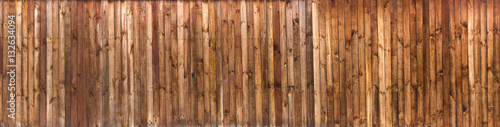 Tableau sur Toile Wood texture plank grain background, wooden desk table or floor panorama