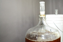 Home Brew Glass Carboy Filled ...