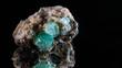 Apophyllit Kristalle auf Grundgestein